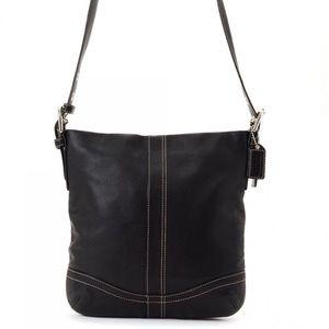 COACH Black Leather F10938 Crossbody Shoulder Bag
